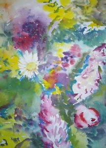 Frühling-Aquarelle